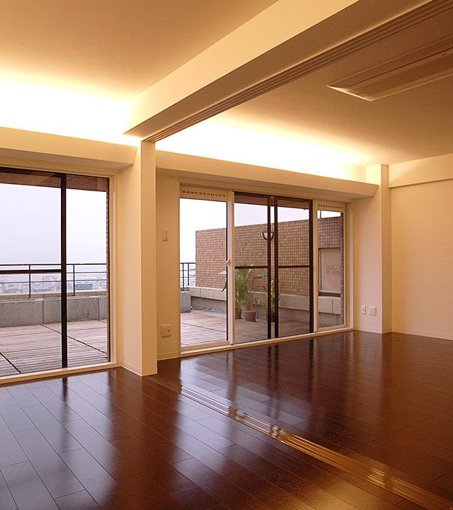 眺望とルーフコントラスト館/神戸市東灘区