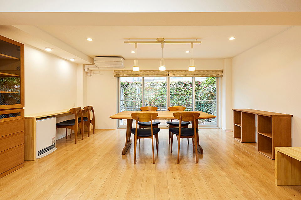 家具と一体化お目指したリフォーム
